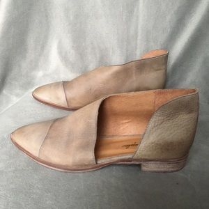 New Free People Royale Flats EU 39.5 Taupe Leather